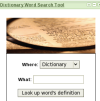 Dictionary search widget